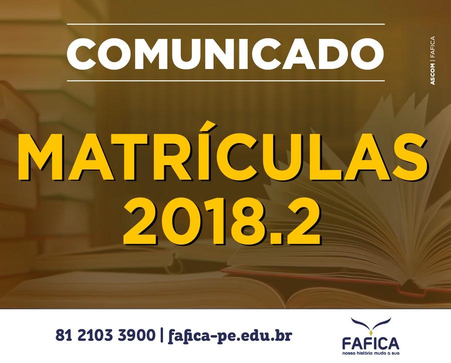 Matriculas 2018-2 2